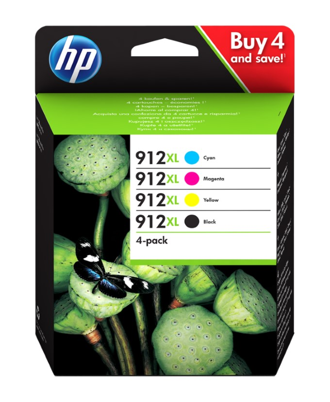 Pack 4 tinteiros originais hp 912XL (3YP34AE)